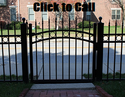 Aluminum gates can be fitted with locks, self closing hinges, and an arched top.