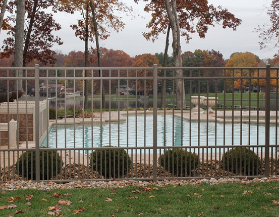 Pool fencing has specific codes and aluminum fences and gates can meet those codes and still last for decades beyond steel fences