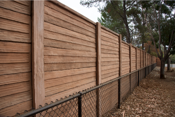 Precast concrete fencing does not dry rot, decay, and is termite proof. Norwalk Fence offers multiple styles and colors.