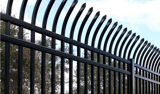Curve top security fences by Alumi-guard are perfect for industrial and commercial properties