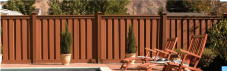 This is Trex Board Seclusion composite fencing. It does not dry rot, decay or warp. Perfect privacy fence for pools or property lines. Call Norwalk Fence.